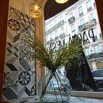 We zaten op het mooiste plekje van het restaurant :)