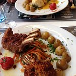Delicious Lamb and Fish of the day dishes