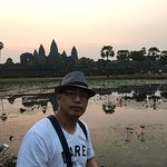 This is during sunrise at Ankorwat