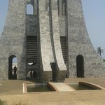 A symbol of Kwame Nkrumah's life which was cut shot and also a symbol of sword turned upside dow