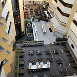 View of hotel atrium from the 6th floor