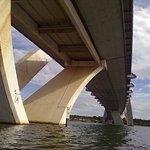 Foto da Ponte JK tirada durante passeio de caiaque