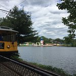 You can take the train or trolley to go all the way around the lake