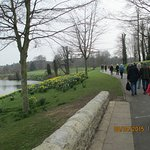 Besides the lake at Leeds Castle