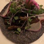 Taco di vermi di agave, raffinato gustoso e davvero un sapore unico, praticamente perfetto