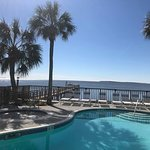 Pool & Hot Tub overlooking the Gulf