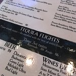 choices of tequila flights