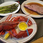 Surf & Turf with grilled asparagus