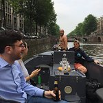 when your captain casually jumps off the boat into the canal