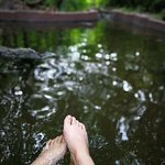 hot spring pool for foot therapy