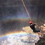 Pêndulo na cachoeira do funil