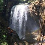 Vista de cima da cachoeira do funil