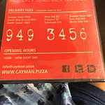 Phone number for pizza orders