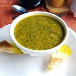 Crab and Callaloo soup