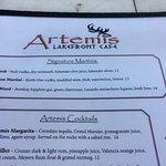 Signature martinis at Artemis