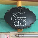 All Fellow foodies will totally agree with the sign above their door lol