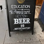 This wonderful sign is in front of a pub neighboring The Last Drop.
