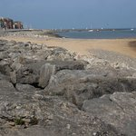 The northern end of Morecambe seafront, nearby