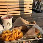 Shake shack burger and fries