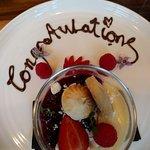 'Congratulations' dessert