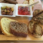 Complementary assorted bread plate