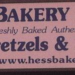 Hess Bakery & Deli Streetsign