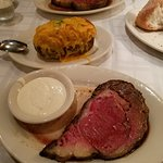 Prime rib & double baked potato
