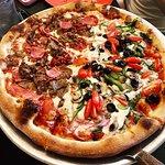 Half Meatlovers Half Veggielovers Pizza