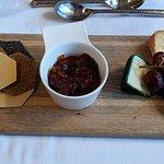 Cheese board - Irish cheeses with chutney