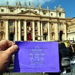 My ticket to the Easter Mass and Urbi et Orbi