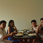 Enjoy the late lunch in the room