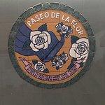 Below the memorial some beautiful art about our Mirador De La Flor
