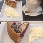 fresh cheesecakes and coffee