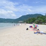 The beautiful white sands of Patong Beach.