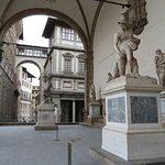 Statues in the loggia