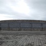 Outer wall with Minahasan family names carved in alphabetical order