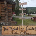 The Road Less Traveled Alaska Gallery has items on display in the Nenana visitor center.