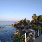 Kleine laguna bij het resort,héérlijk!