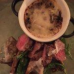 lamb chops and moussaka