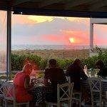 sea view, romantic sun set