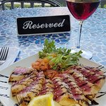 Ahi Tuna and Pinot Noir on the Front Porch