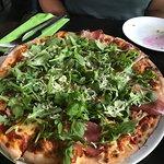Arugula, prosciutto and cheese Spec pizza