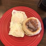 Eggs over easy with English Muffin