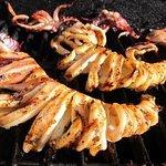 Fresh grilled calamari!