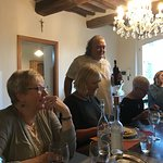 Dinner with guests staying at Il Vicario after participating in a cooking session. Delightful!!