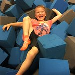 It was alittle hard for me to crawl out of the foam pit!!!