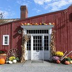 Pretty entrance to the Red Mill Restaurant