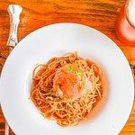 Mrs. Lich's Butterscotch Ale & Crab Meat Aglio Olio