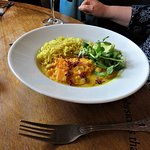 veg curry and rice