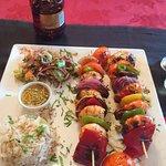 Prawn kebabs were awesome!